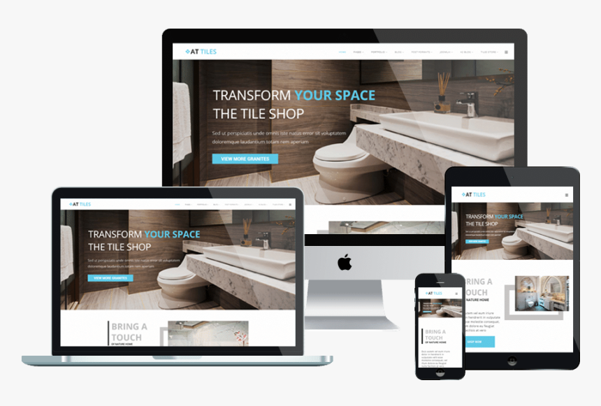 At Tiles Free Responsive Joomla Template - Responsive Website Templates Png, Transparent Png, Free Download