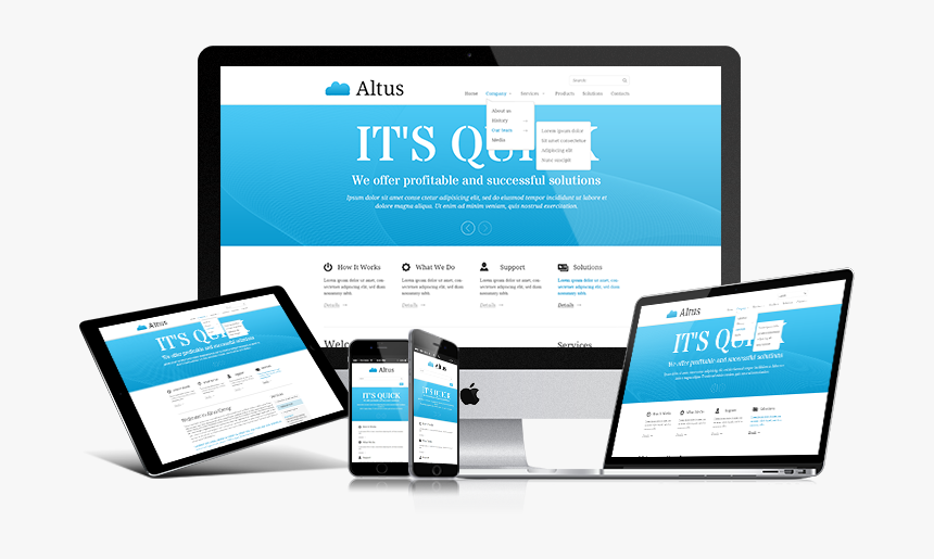 Clip Art Altus Template Gridgum Theme - Responsive Web Design, HD Png Download, Free Download