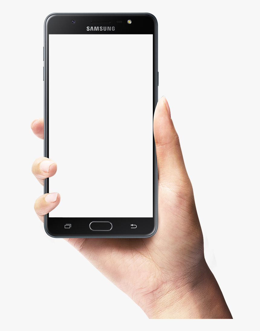 Phone In Hand Png - Mobile Frame With Hand, Transparent Png, Free Download