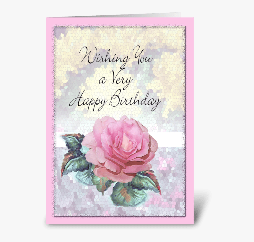 Astonishing Pink Rose Birthday Wishes Greeting Card Christmas Card Hd Png Funny Birthday Cards Online Fluifree Goldxyz