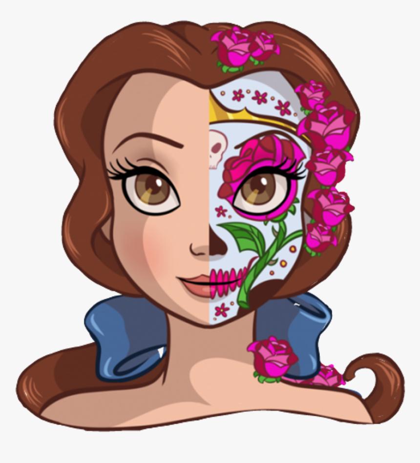 Princess Clip Face - Dia De Los Muertos Disney Princess, HD Png Download, Free Download
