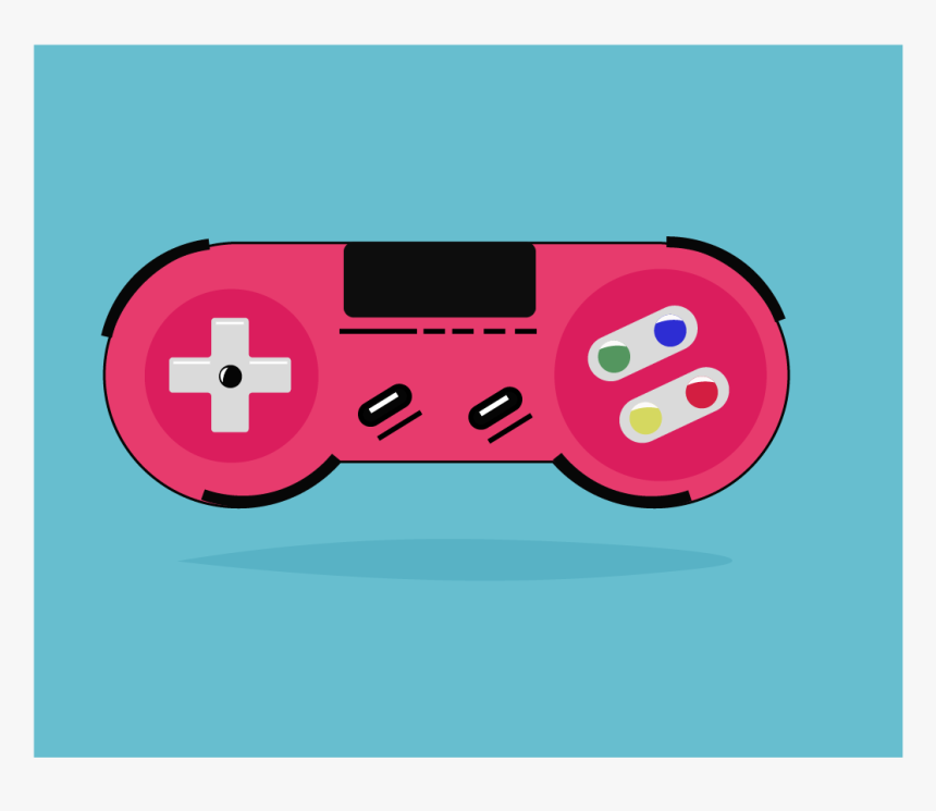 Gaming Controller Ux App Icons Typography Brand Blue - Illustration, HD Png Download, Free Download