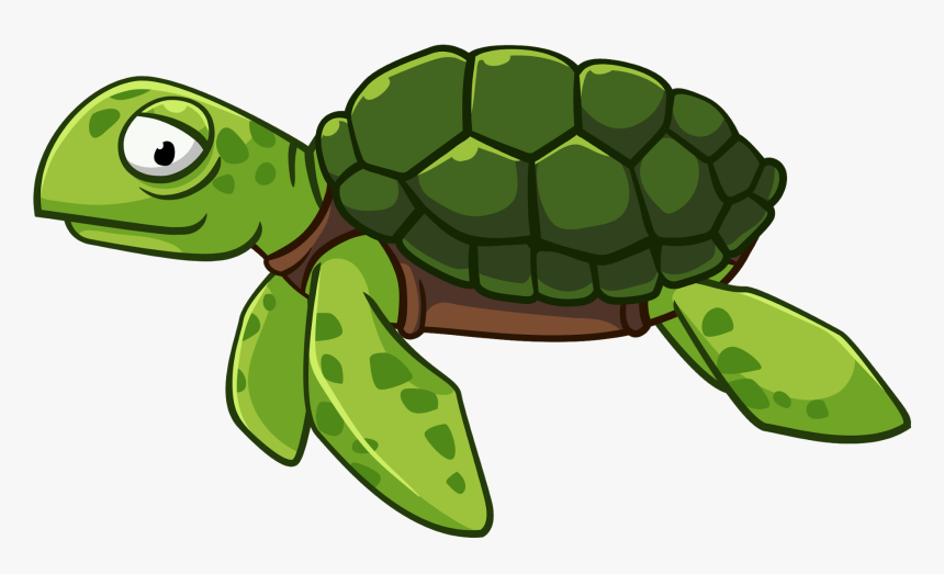 Green Cliparts Png Turtle - Transparent Cartoon Sea Turtle, Png Download, Free Download