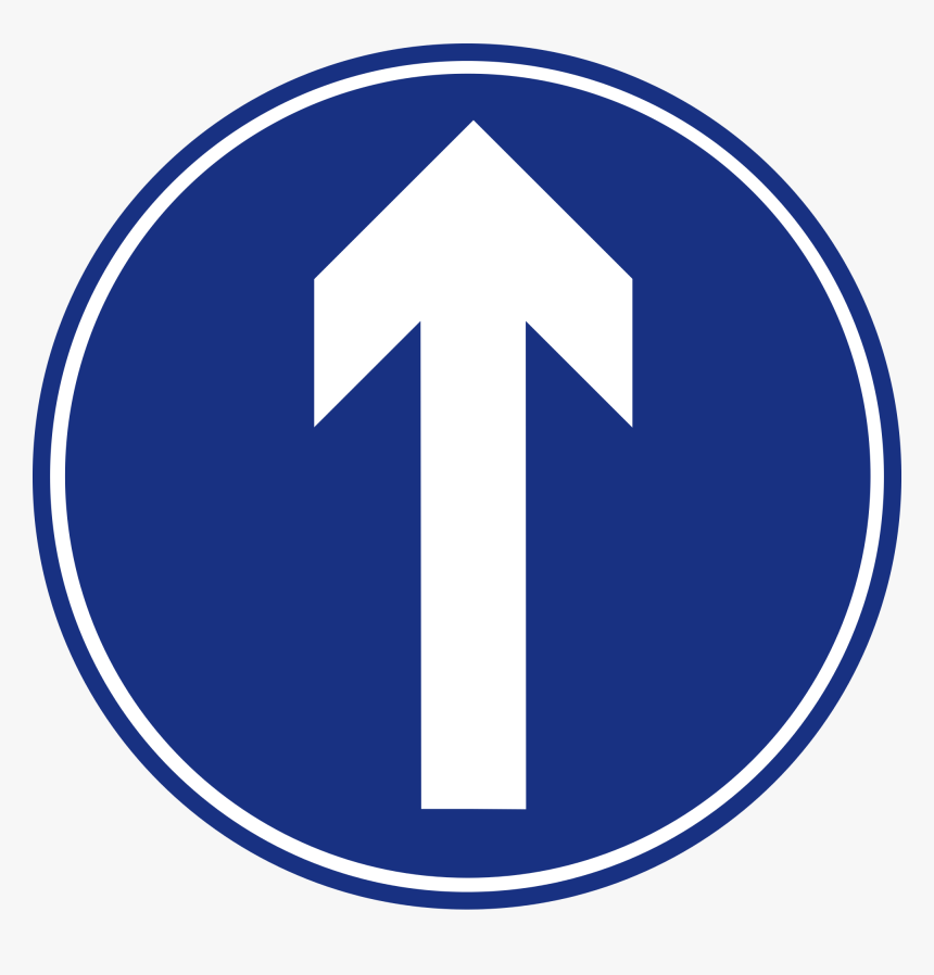 Road Svg Straight Line - Arrow Road Sign Singapore, HD Png Download, Free Download