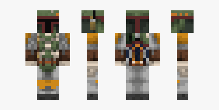 Skin De Boba Fett Para Minecraft, HD Png Download, Free Download