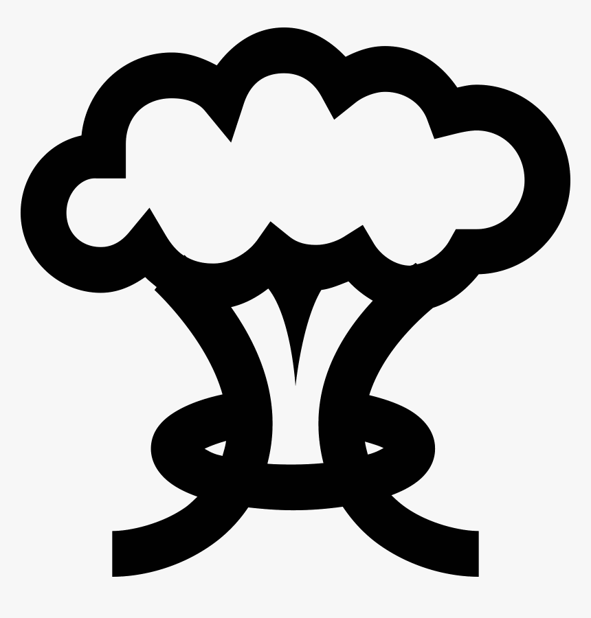 Transparent Explosion Icon Png - Mushroom Cloud Vector Png, Png Download, Free Download
