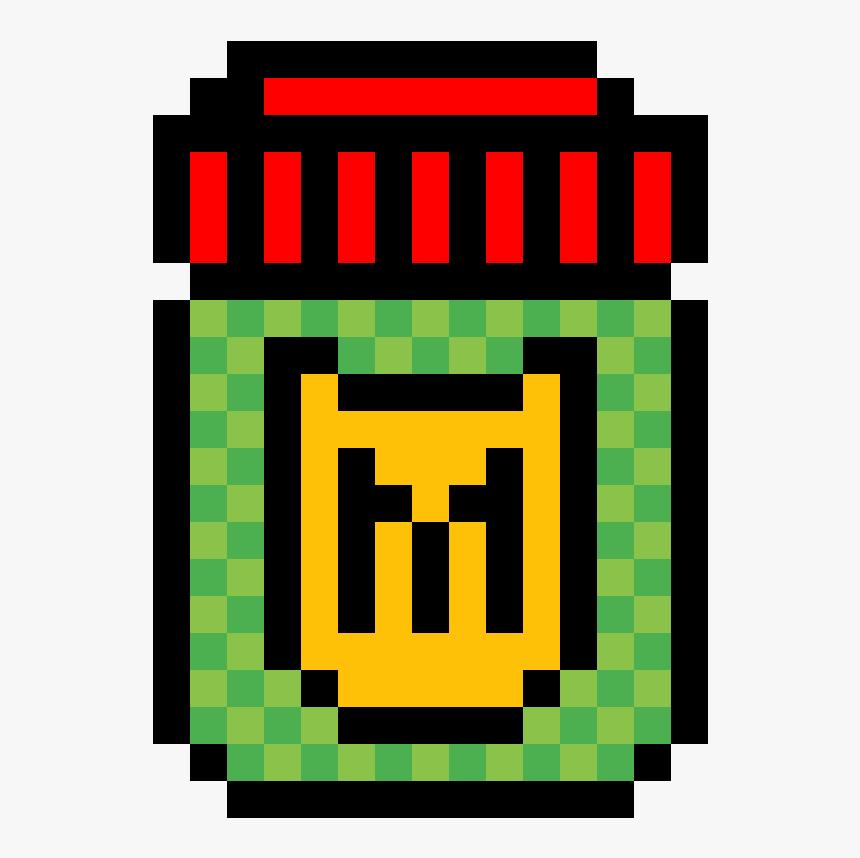 Shield Potion Fortnite Pixel Clipart , Png Download - Mario Bros Mushroom Png, Transparent Png, Free Download