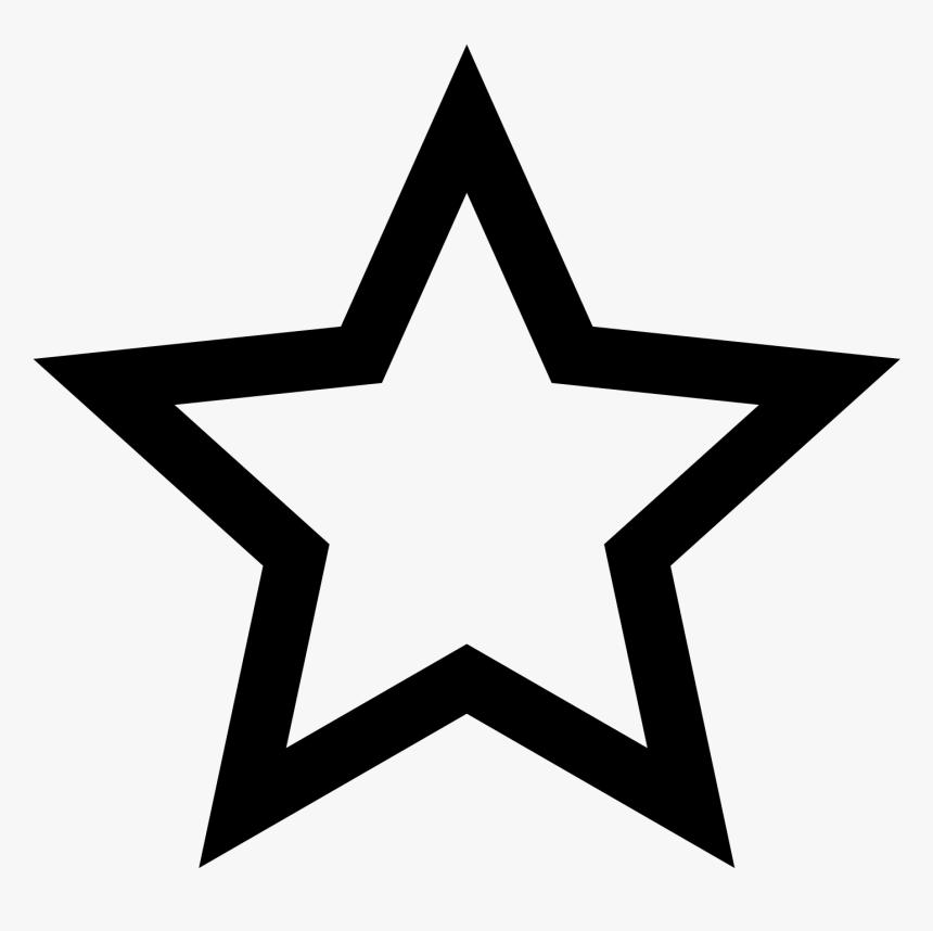 Five-pointed Star Outline Symbol Clip Art - Star Outline Svg, HD Png Download, Free Download