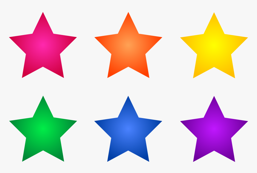 Star Clip Art Outline Free Clipart Images - Colored Star Clip Art, HD Png Download, Free Download