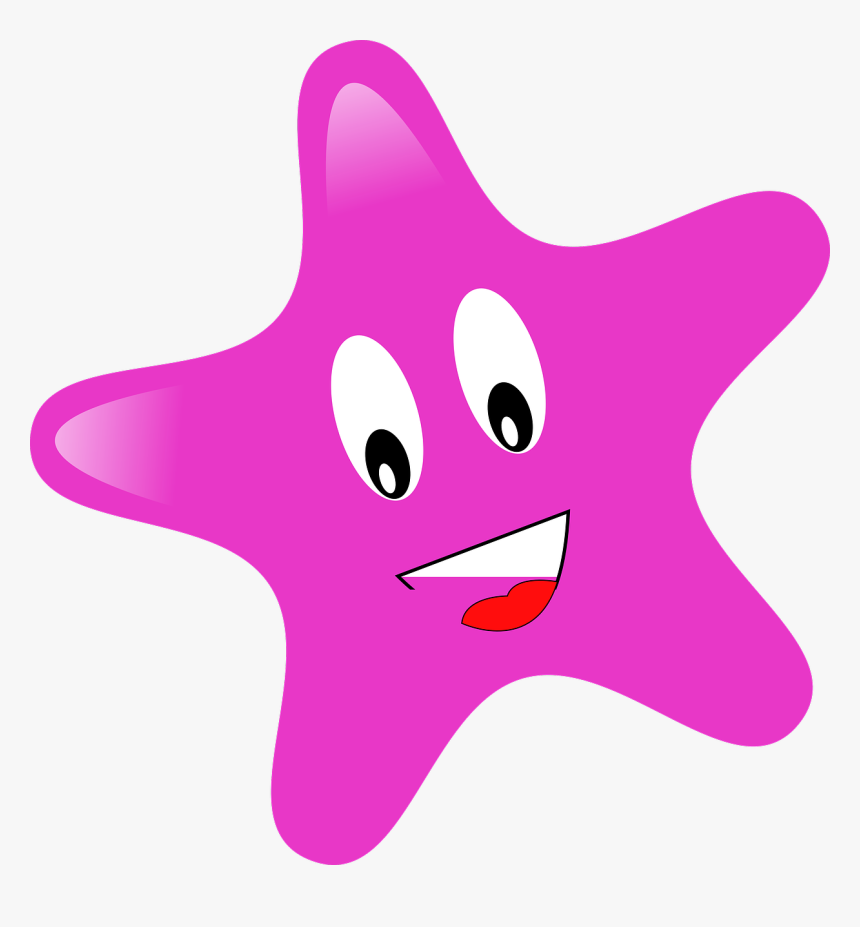Star Outline Images Free Download Clipart - Star Pink Clipart, HD Png Download, Free Download