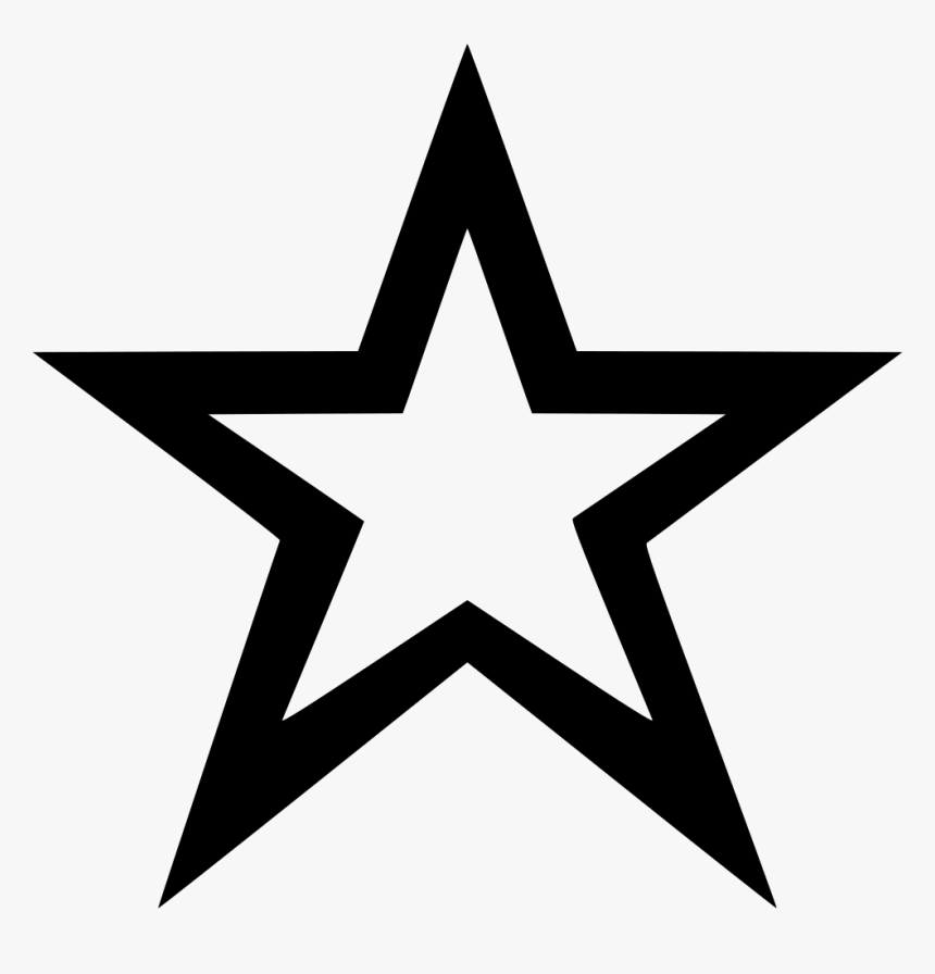 Star Outline - Star Icon Png, Transparent Png, Free Download