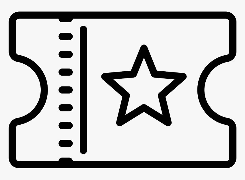 Movie Ticket Icon - Police Badge Vector Png, Transparent Png, Free Download
