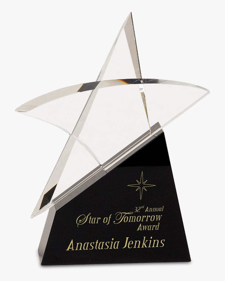 Premier Crystal Outline Star On A Black Crystal Base - Trophy, HD Png Download, Free Download