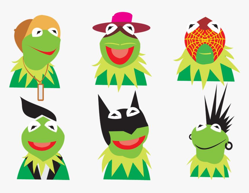 Kermit The Frog Chameleons Lizard Clip Art - Kermit The Frog, HD Png Download, Free Download