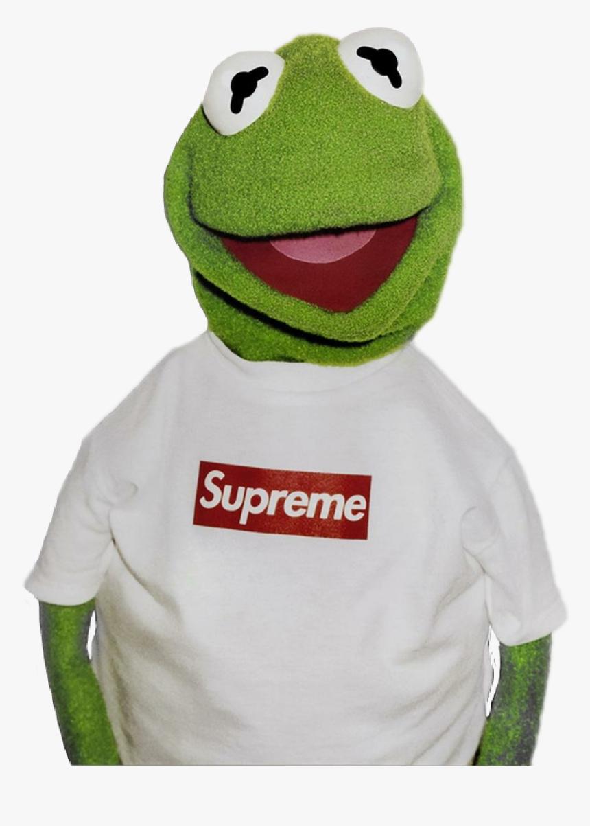 #memezasf #kermit #frog #kermitthefrog #bart #supreme - Kermit The Frog Supreme Hd, HD Png Download, Free Download