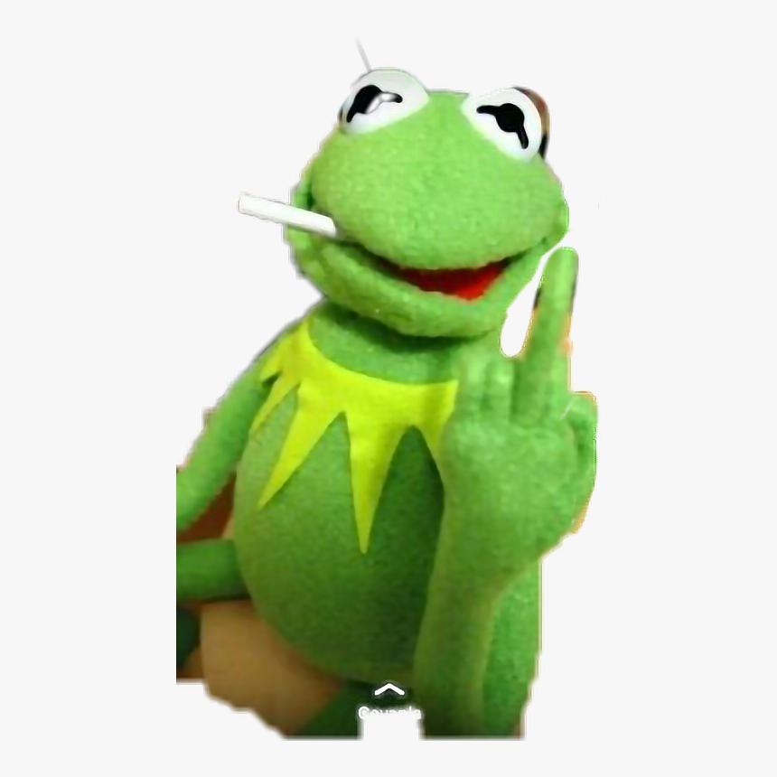 #kermit #frog #muppet #muppets - Kermit The Frog Middle Finger, HD Png Download, Free Download