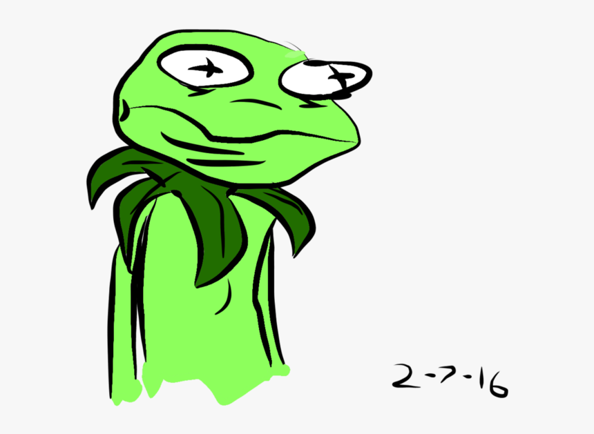 Transparent Kermit Png - Kermit The Frog Drawing Funny, Png Download, Free Download