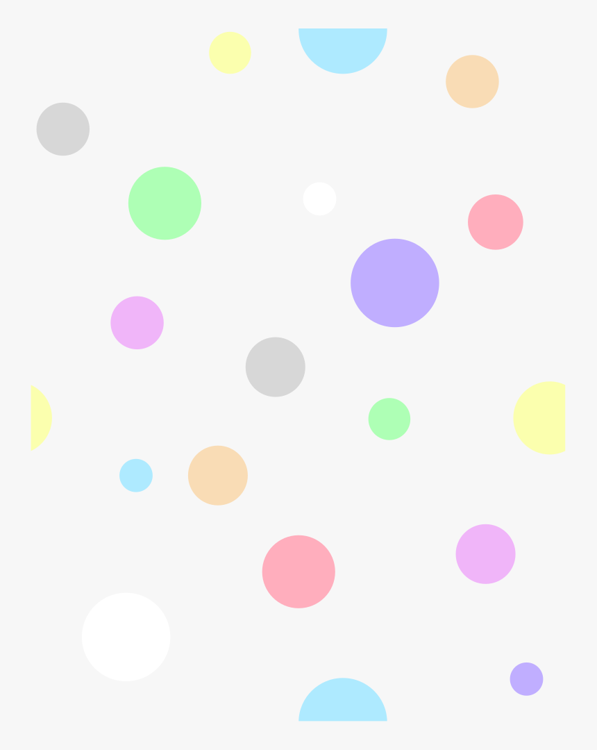 Polka Dots, In Pastel Colors - Pastel Colors Polka Dots, HD Png Download, Free Download