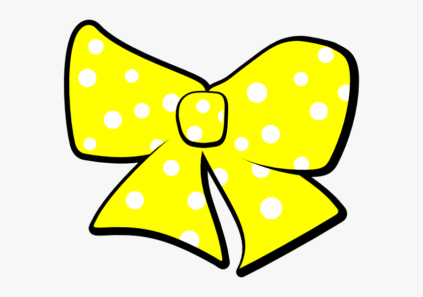 With Dots Clip Art - Yellow Polka Dot Bow Clipart, HD Png Download, Free Download