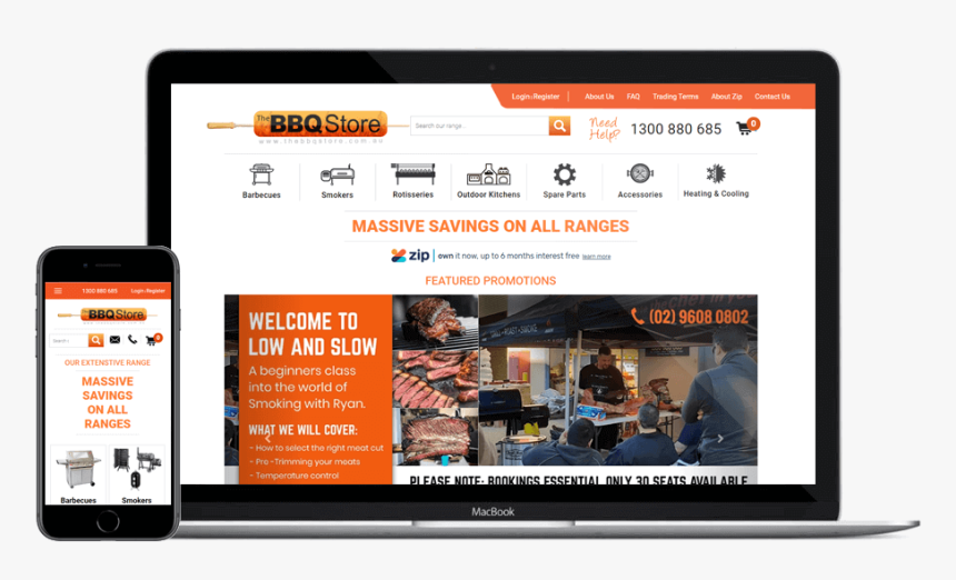 Bbq Store Ecommerce - Online Advertising, HD Png Download, Free Download