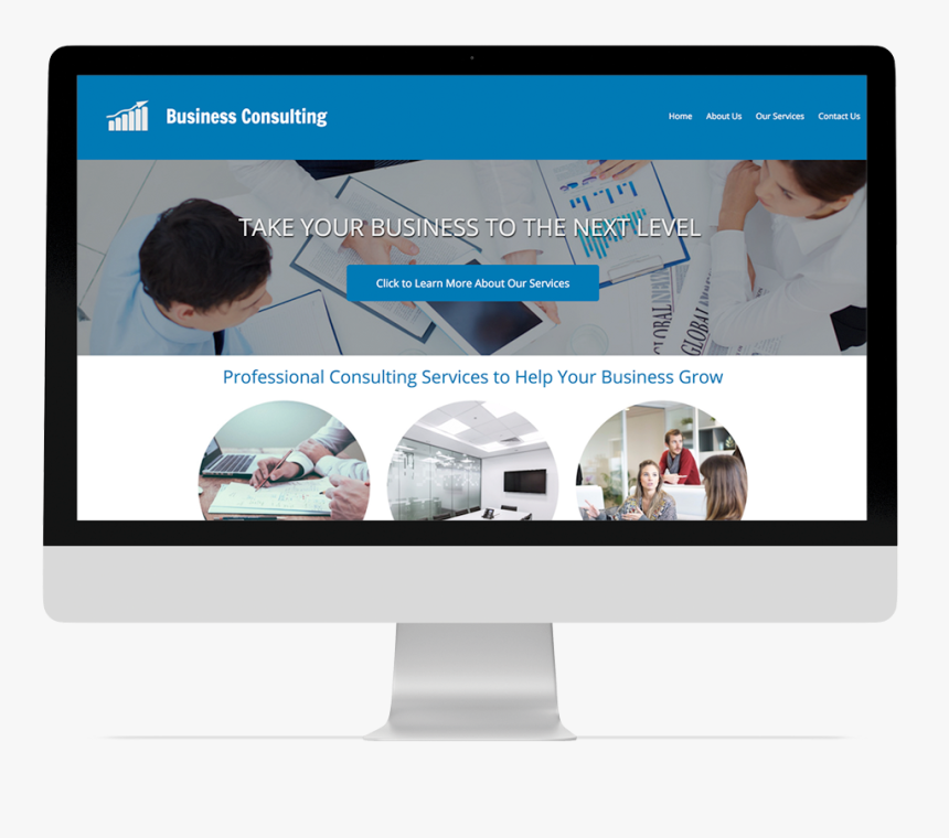 Consulting Company Website Design, HD Png Download, Free Download