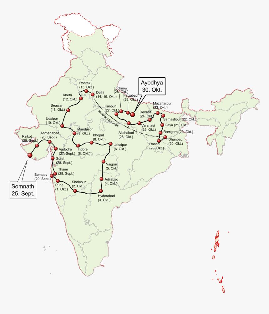 Somnath To Ayodhya Rath Yatra, HD Png Download, Free Download