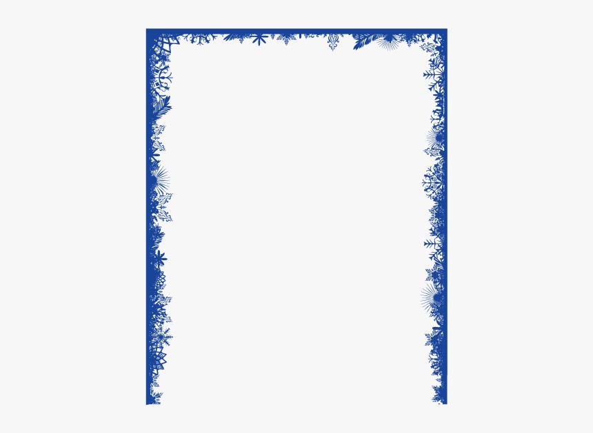 Snowflake Clip Art - Transparent Snowflake Border Clipart, HD Png Download, Free Download