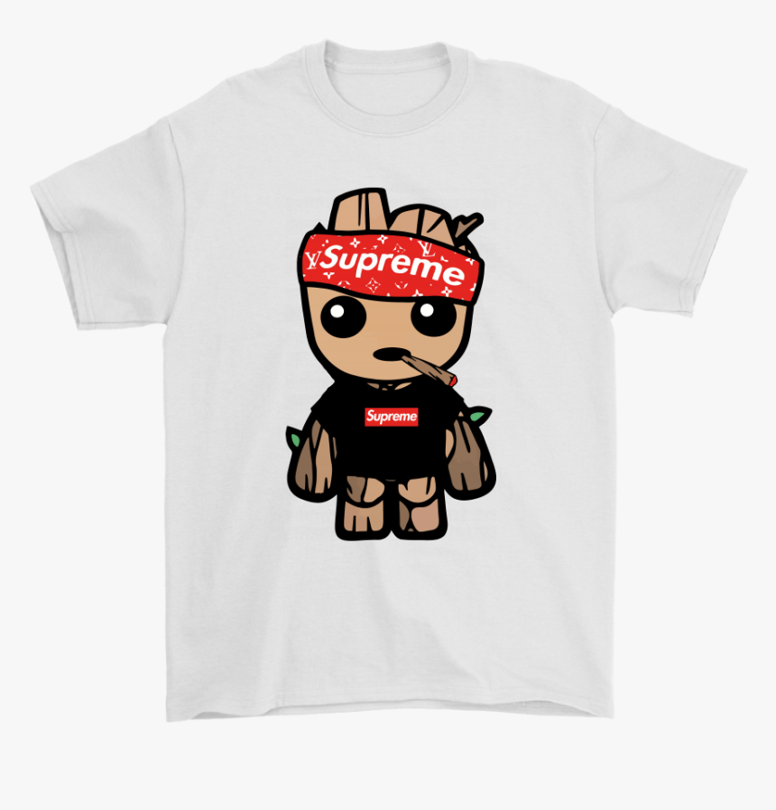 Supreme Hip Hop Baby Groot Guardian Of The Galaxy Shirts Cartoon Cool Wallpapers Supreme Hd Png Download Kindpng