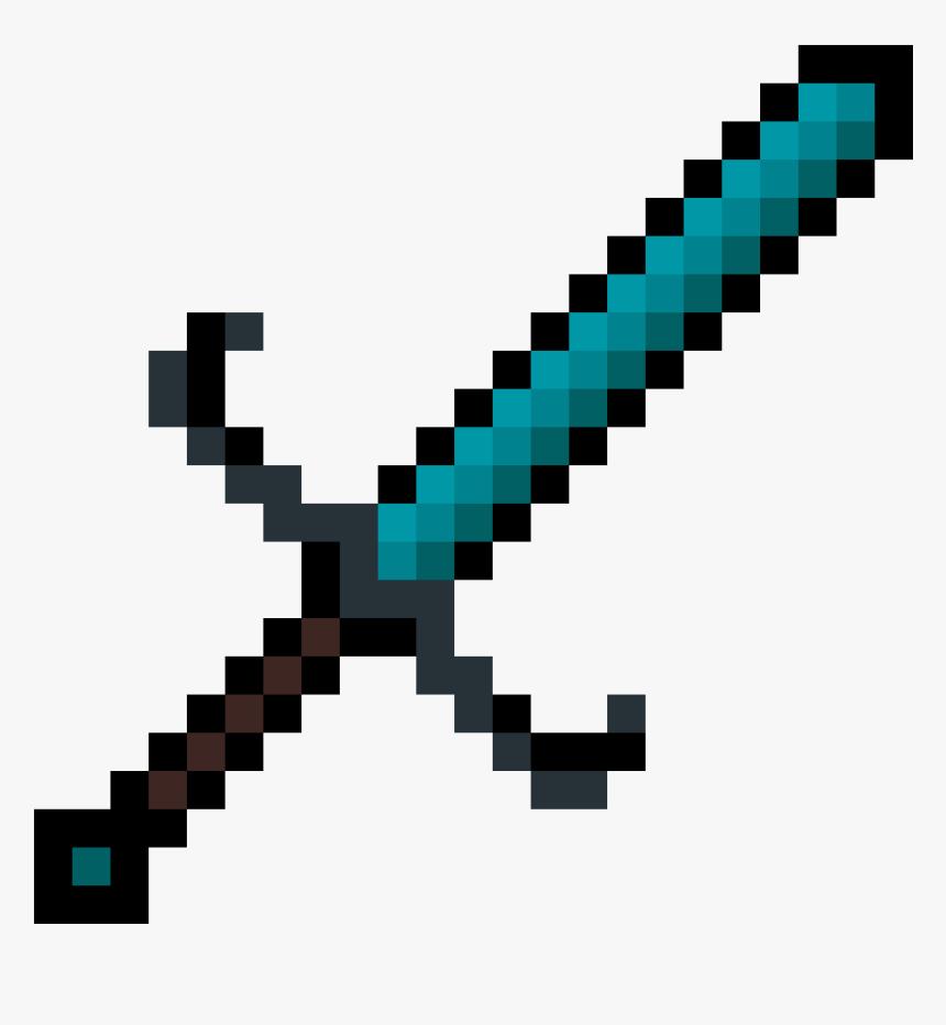 8 Bit Minecraft Diamond Sword, HD Png Download, Free Download
