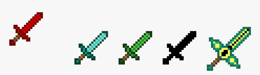 Transparent Minecraft Swords Png - Minecraft Weapons Coloring Pages, Png  Download - Kindpng