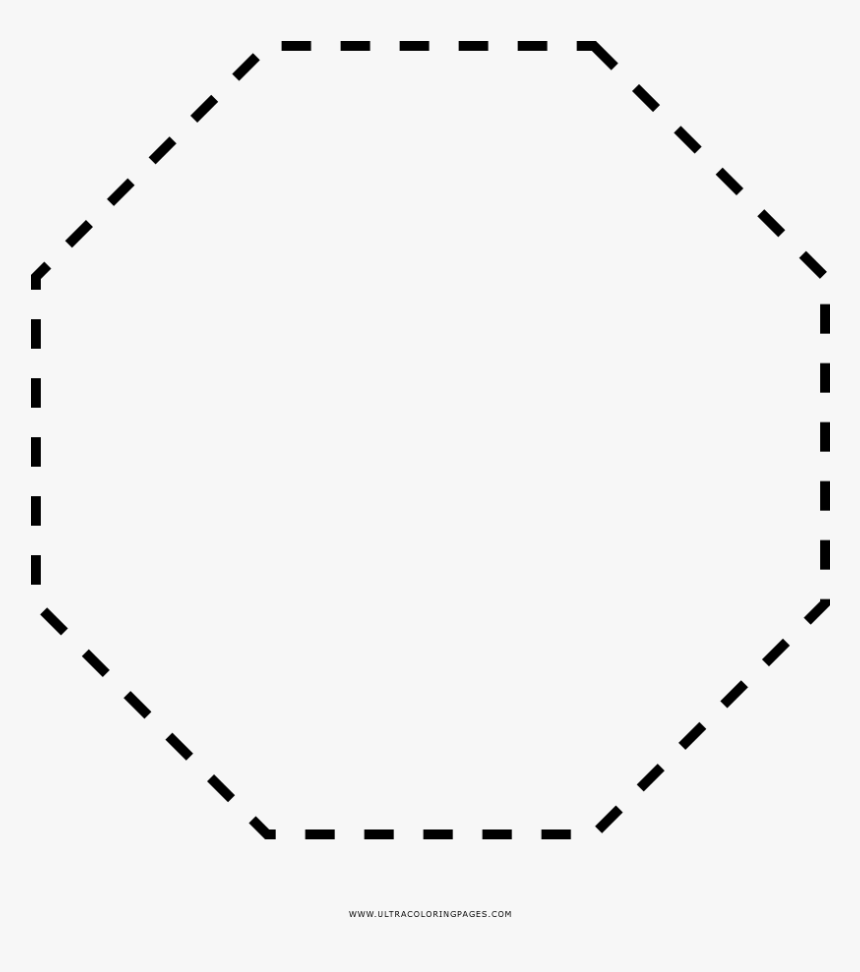 - Dashed Octagon Coloring Page - 100 Days Of School Vector, HD Png