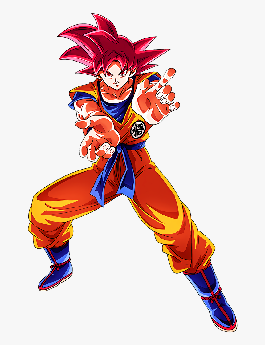 Freeing Aura Of God] Super Saiyan God Goku Character - Render Dragon Ball Super, HD Png Download, Free Download