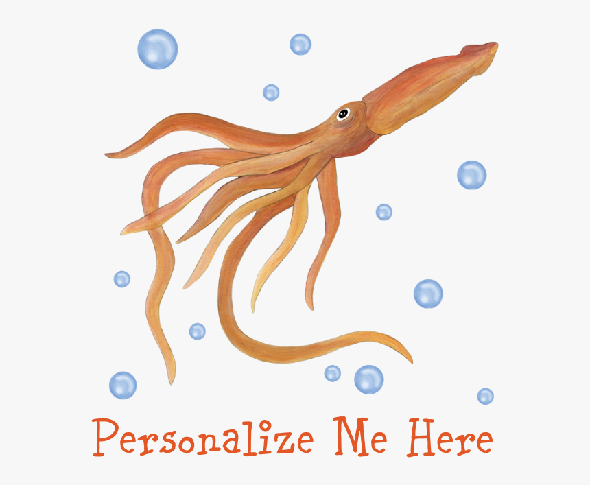 Personalized Squid Rectangular Canvas Pillow - Octopus, HD Png Download, Free Download