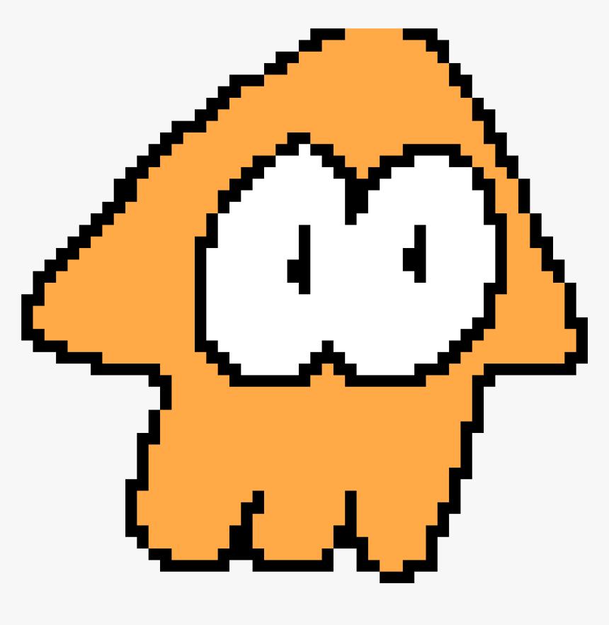 Pixel Art Splatoon Squid Hd Png Download Kindpng