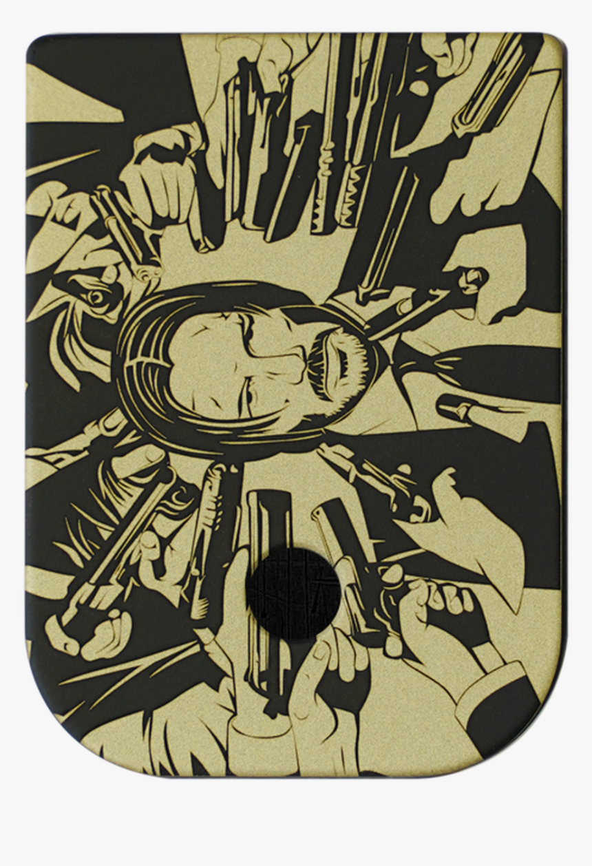 John Wick Brass Black Traditional Finish Mag Plate - John Wick, HD Png Download, Free Download