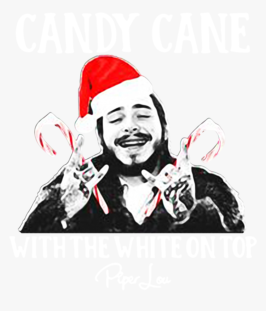 Post Malone Candy Cane With The White On Top Christmas, HD Png Download, Free Download
