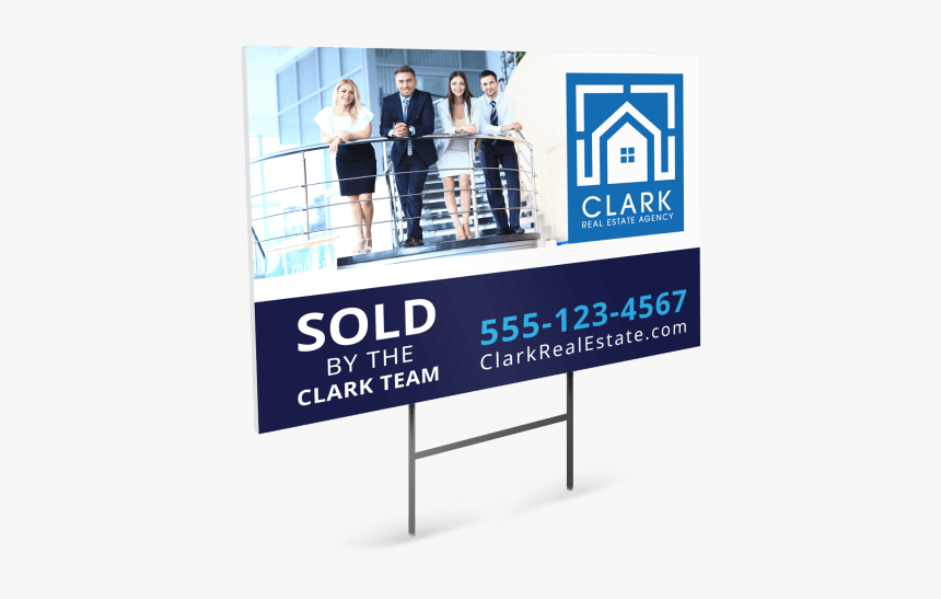 Real Estate Sold By Yard Sign Template Preview Banner Hd Png Download Kindpng