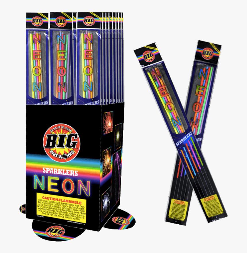 Neon Sparkler - Fireworks, HD Png Download, Free Download