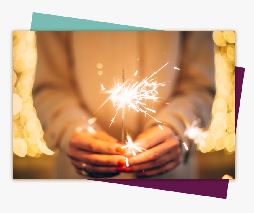 About Woman With Sparkler - Winter Sparkler, HD Png Download, Free Download