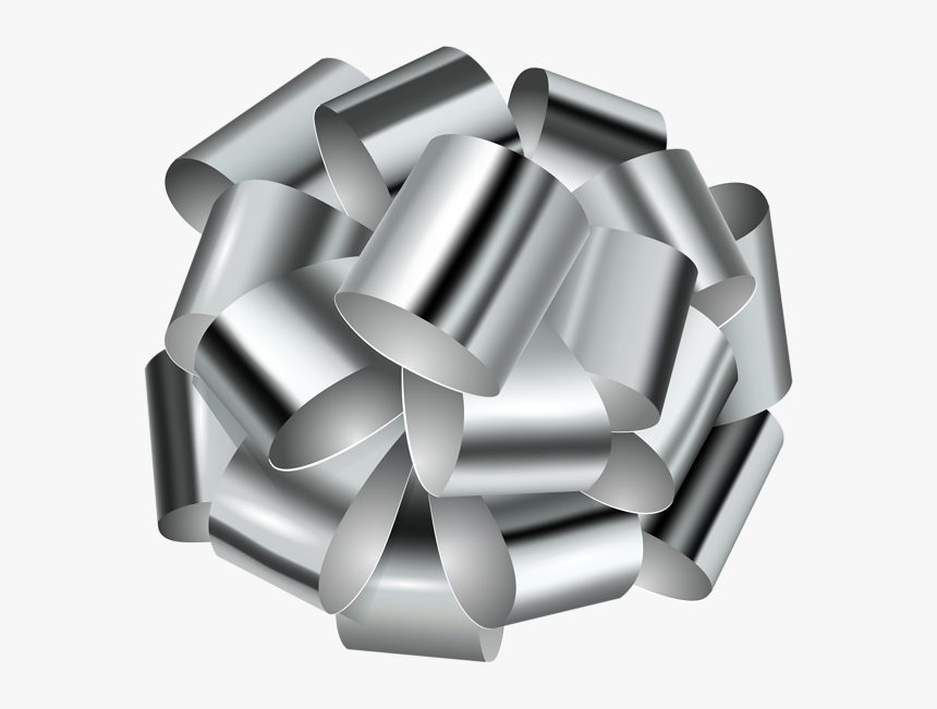 Decorative Transparent Clip Art - Transparent Silver Bow Png, Png Download, Free Download