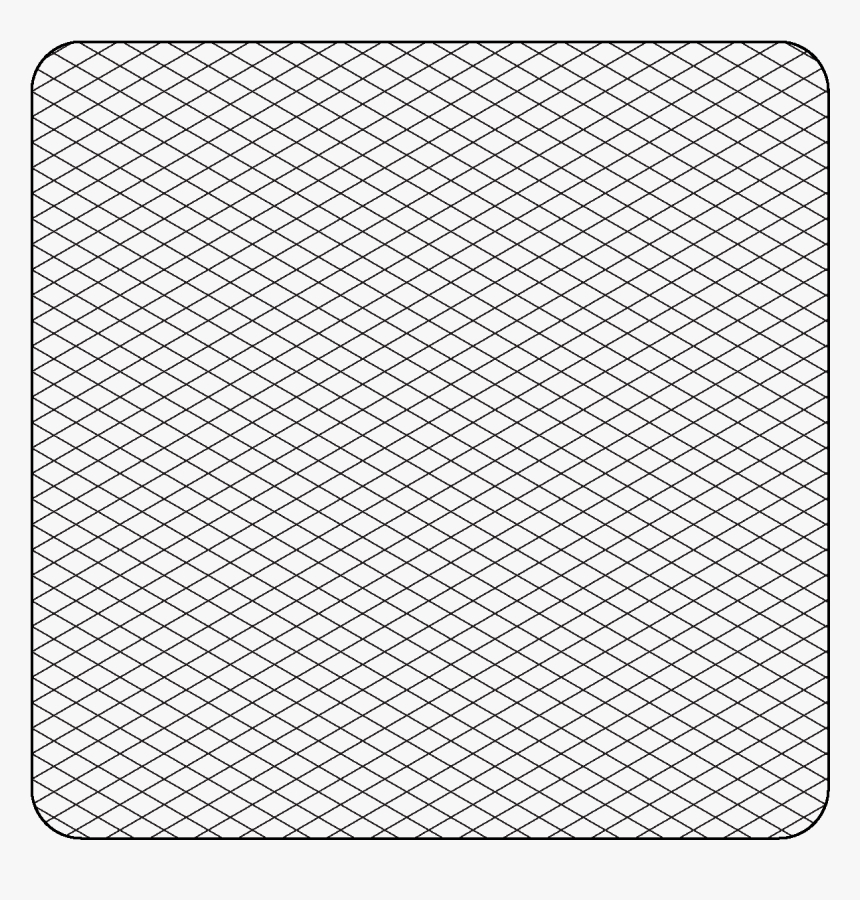 Printable Isometric Graph Paper Grid - Graph Paper, HD Png Download, Free Download