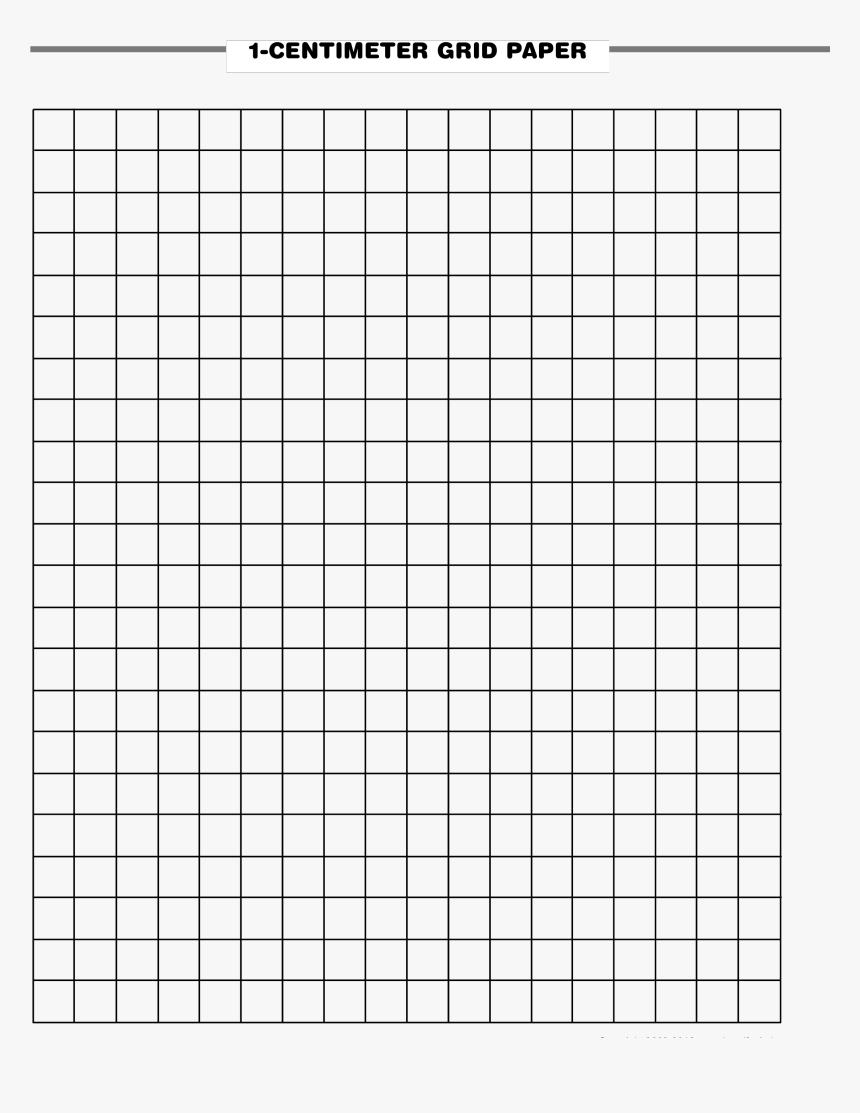 1 Cm Grid Paper Printable - Pdf Cm Grid Paper, HD Png Download, Free Download