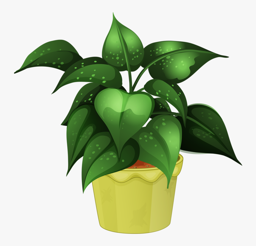 Flower Pot Png Garden - Free Clip Art Potted Plants, Transparent Png, Free Download