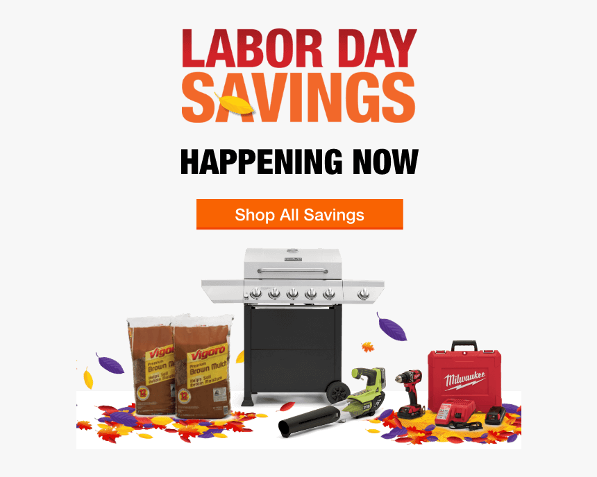 2017 Home Depot Labor Day Sale Hd Png Download Kindpng