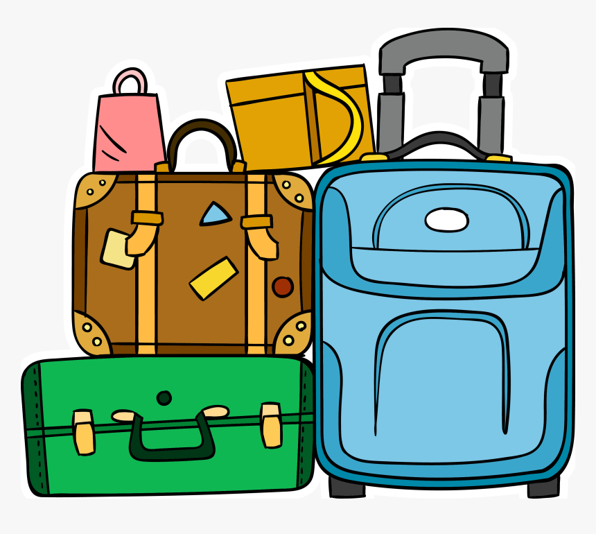 Suitcase Baggage Travel - Luggage Clipart, HD Png Download - kindpng