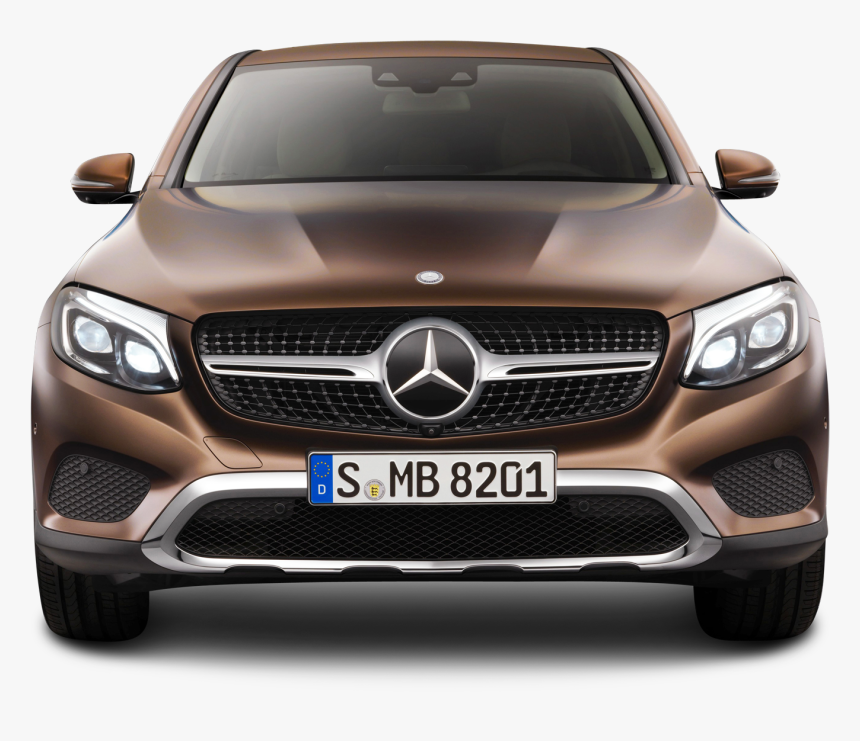 Brown Mercedes Benz Gle Coupe Front View Car Png Image - Mercedes Glc 2019 Colors, Transparent Png, Free Download