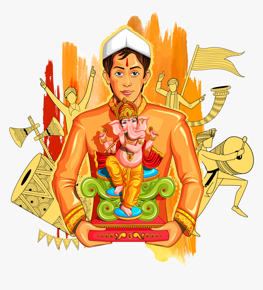 Clipart Happy Ganesh Chaturthi - Ganesha, HD Png Download, Free Download