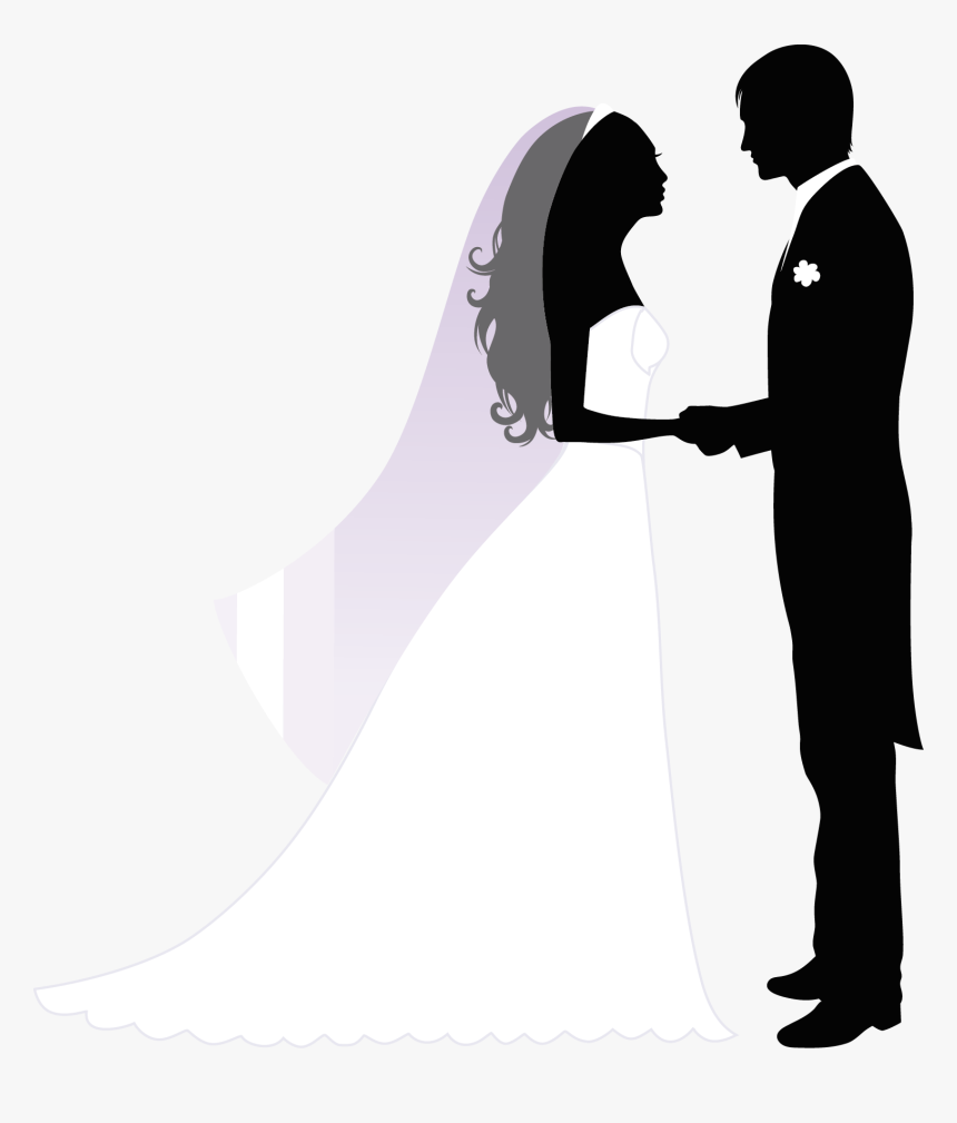Wedding Invitation Marriage Bridegroom - Wedding Couple Silhouette, HD Png Download, Free Download