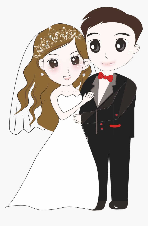 Bridegroom Wedding Cartoon Wedding Couple Cartoon Png Transparent Png Kindpng