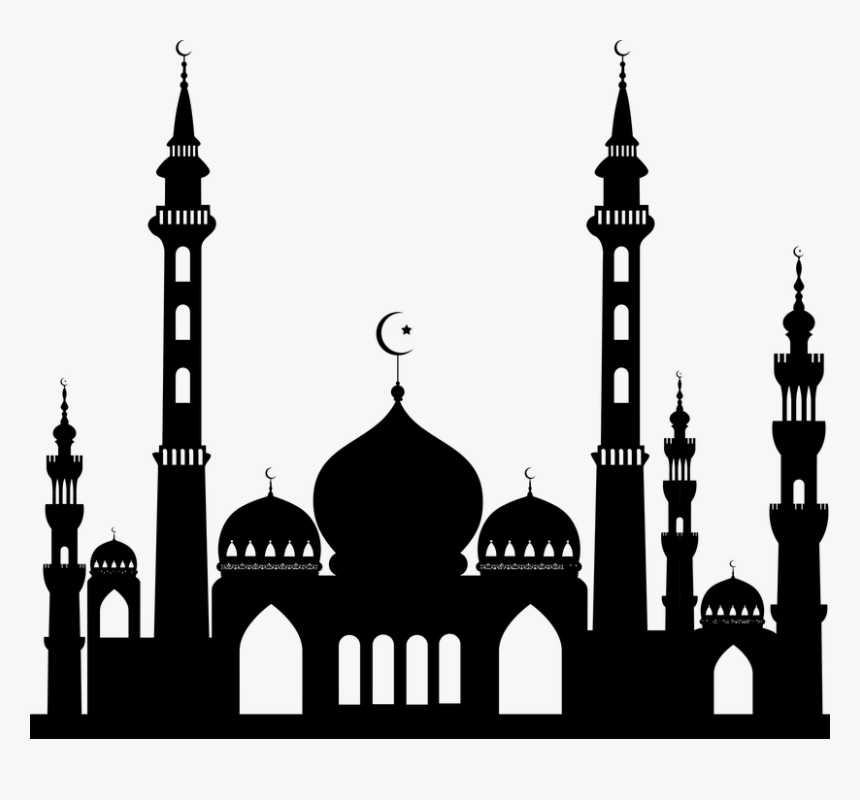 Islam Drawing Temple Gambar Masjid Hitam Putih Hd Png Download Kindpng